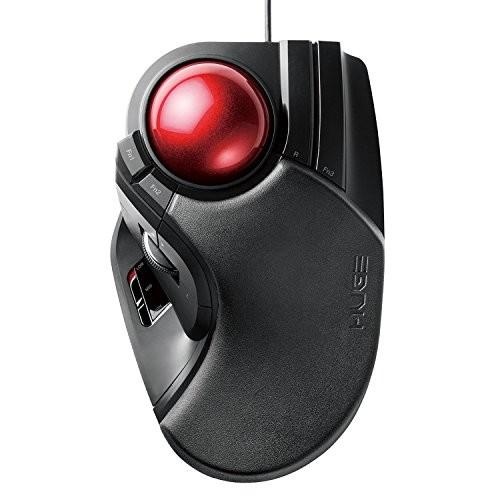 『新品』エレコム トラックボールマウス 有線 大玉 8ボタン チルト機能 ブラック M-HT1URBK