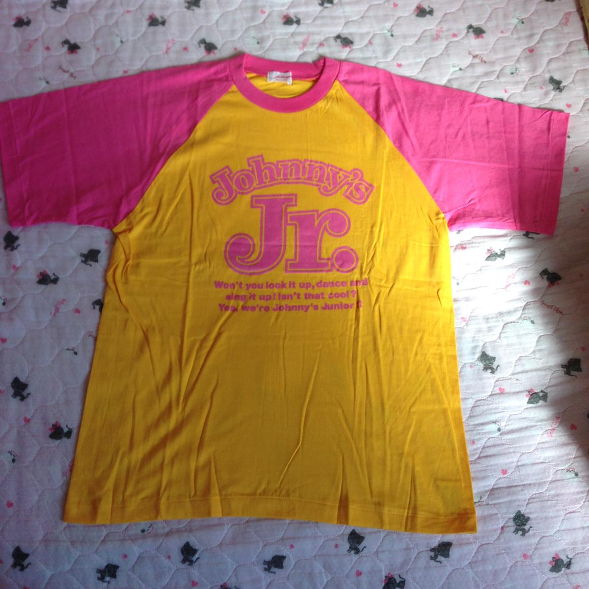 ジャニーズJr.Tシャツ 山吹色×ピンク サイズフリー