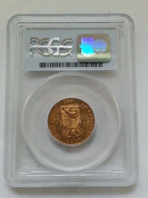 ▲希少▲ 1875 金貨 オランダ ウィリアム3世 10グルデン MS67_画像3