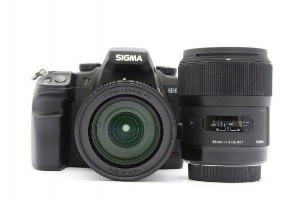 SIGMA シグマ SD1 merrill + 17-70mm F2.8-4 DC + 35mm F1.4 DG 高画質デジタル一眼 SAマウント 美品 送料無料 1円オークション