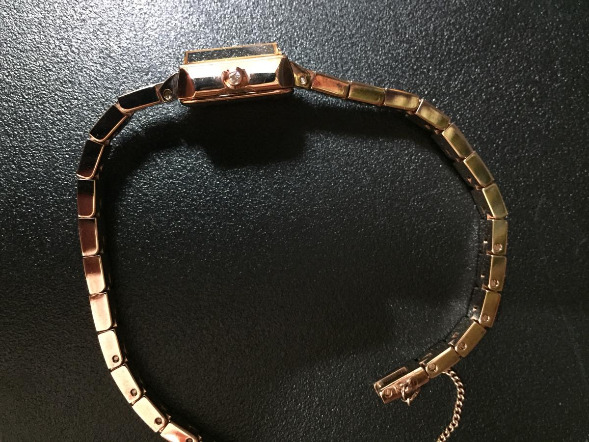 アガット腕時計ピンクゴールド、ダイヤ_画像2