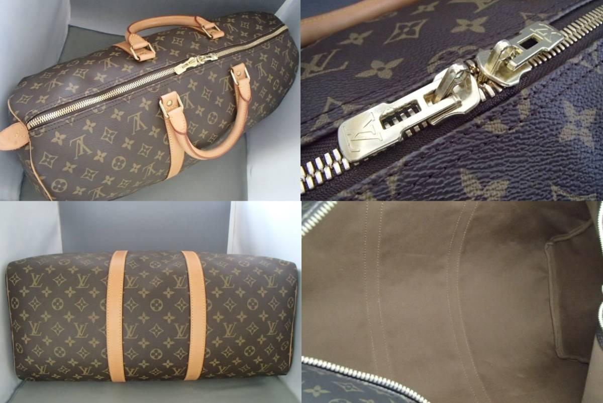 ルイヴィトン モノグラム キーポル50 ボストンバッグ M41426 旅行 出張 カバン ハンドバッグ Louis Vuitton_画像3