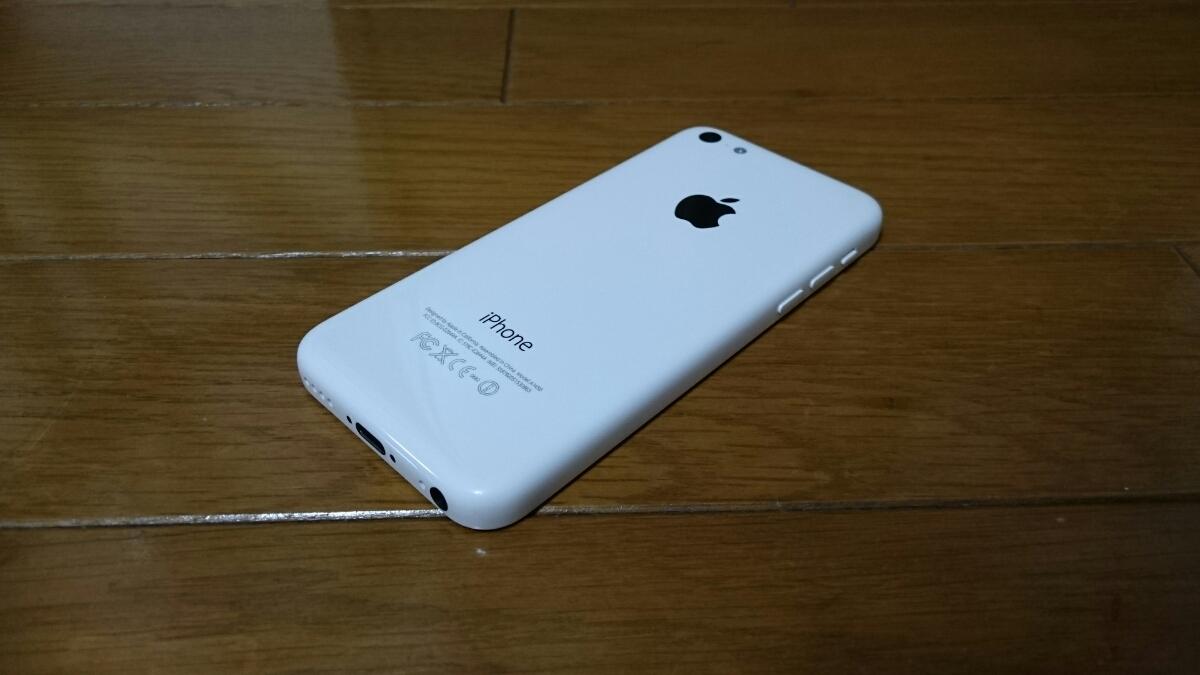 即落/即発!!au 美中古品 iPhone 5c 16GB ホワイト_画像2