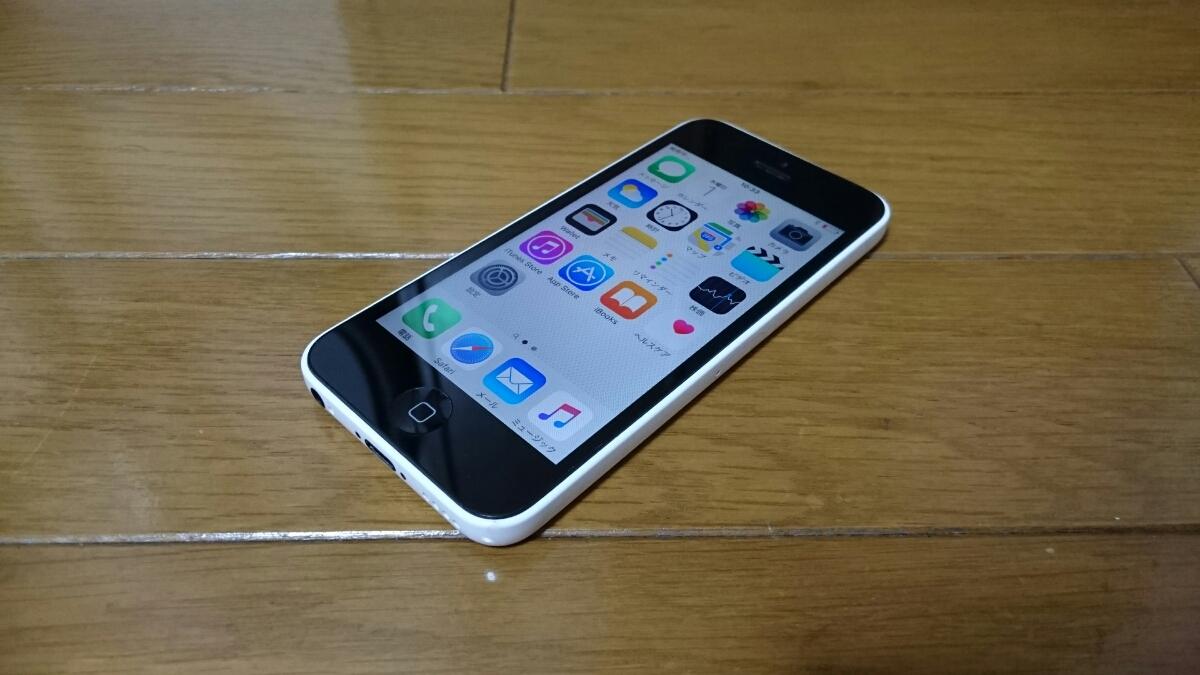 即落/即発!!au 美中古品 iPhone 5c 16GB ホワイト_画像1