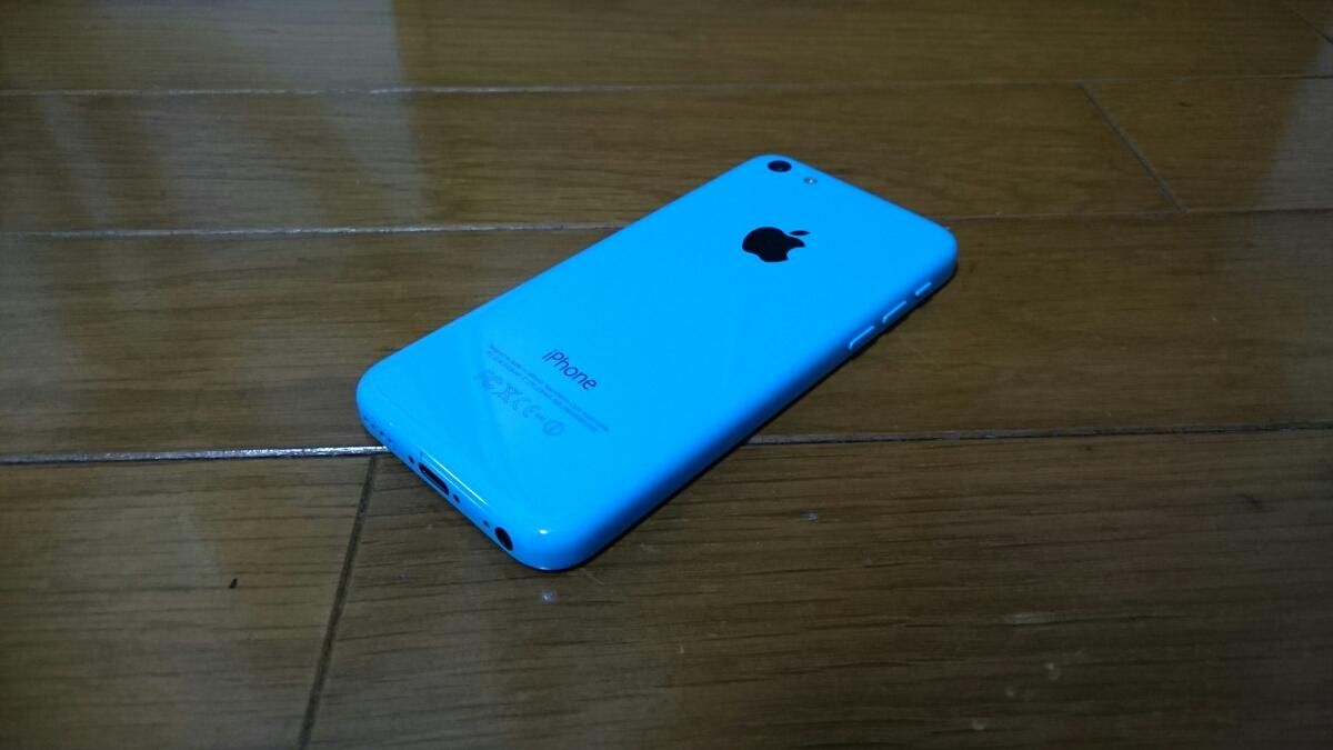 即落/即発!!au 美中古品 iPhone 5c 16GB ブルー_画像2