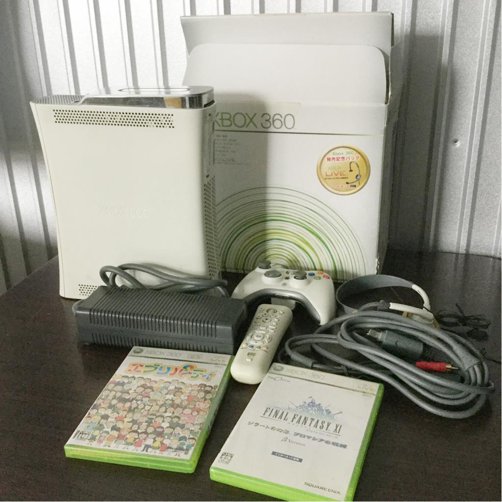1円~ XBOX360 CONSOLE HDD 箱付き コントローラー ソフト2点付