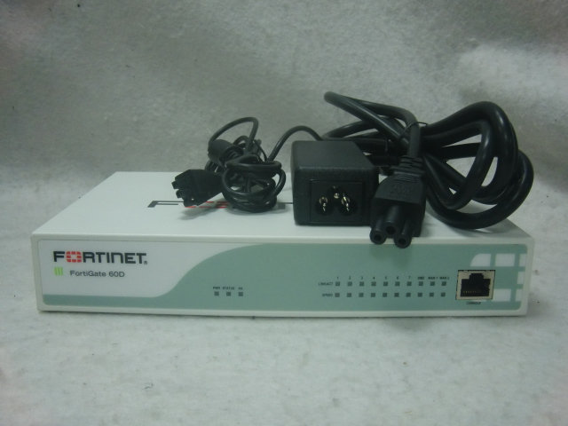 used the first period   settled * FORTINET FORTIGATE-60D
