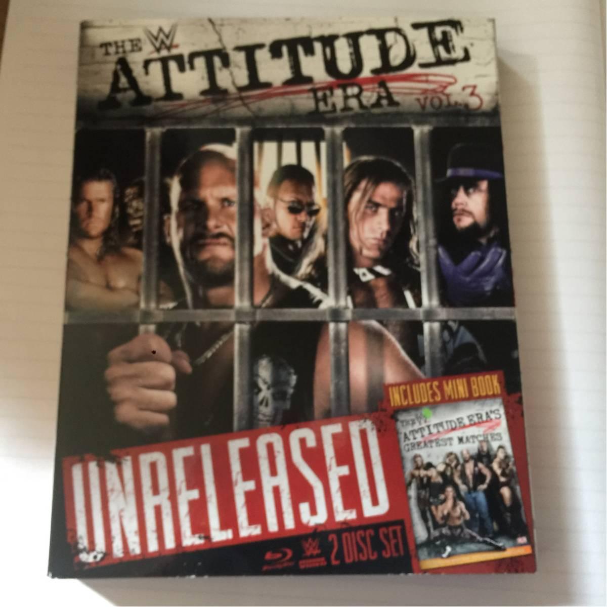 WWE Blu-ray attitude era 送料無料 日本ブルーレイ機器で再生可能 プロレス ブックレット付き グッズの画像