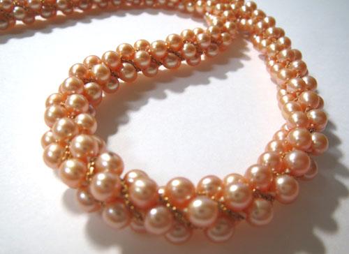 【最終処分】245-17103F13 超特価! K18 金 GOLD ゴールド ベビーパール真珠 ネックレス ピンク 43cm_画像3
