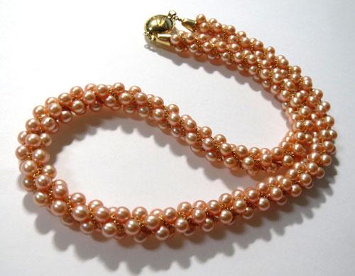 【最終処分】245-17103F13 超特価! K18 金 GOLD ゴールド ベビーパール真珠 ネックレス ピンク 43cm