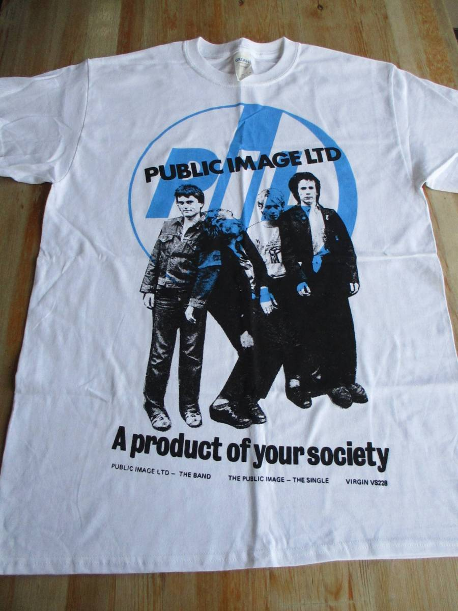 PUBLIC IMAGE LTD Tシャツ a product of your society 白M / PIL sex pistols pop group RIP RIG & PANIC clash No New York