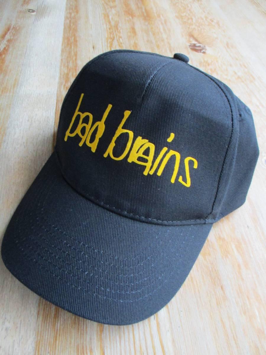 BAD BRAINS コットン キャップ 黒 cap / black flag minor threat fugazi metallica anthrax d.r.i.