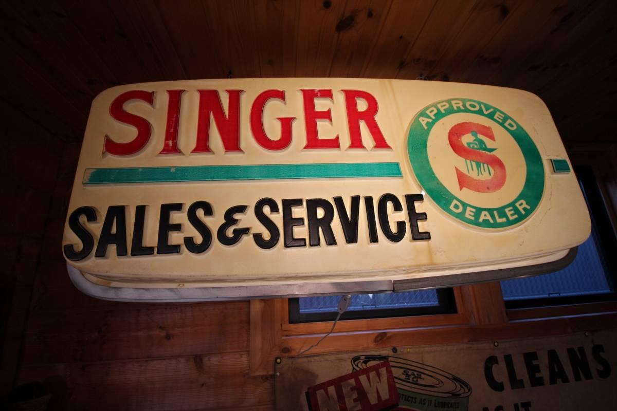 アメリカ製、巨大ディスプレイ、1960年代、SINGERディーラー用サイン!_画像3