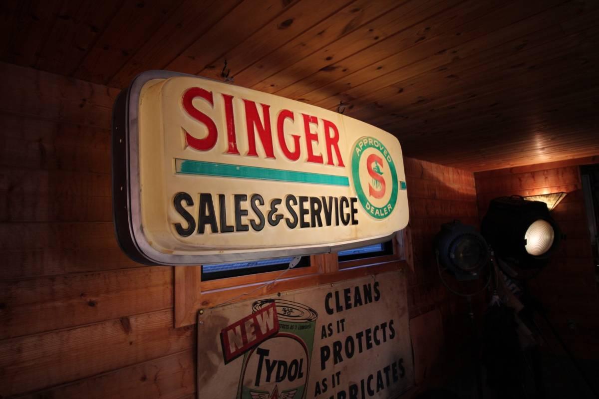 アメリカ製、巨大ディスプレイ、1960年代、SINGERディーラー用サイン!_画像2