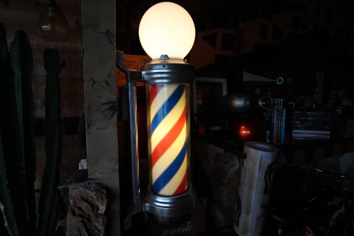 床屋さんのサイン。BARBER SHOPの看板。'50sスタイル!本物のアメリカアンティークです!!!_画像2