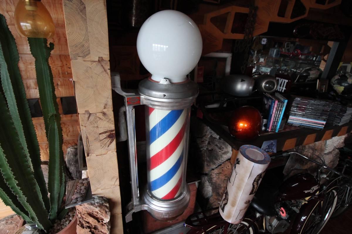 床屋さんのサイン。BARBER SHOPの看板。'50sスタイル!本物のアメリカアンティークです!!!_画像4