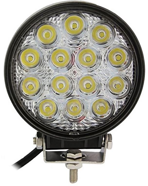 「グレードアップ 42w×2点セット 広角 3w×14連 12v-24V兼用 3200 lm LED ワークライト 作業灯 農業 建設 機械 船舶 トラック用品 車外灯用」の画像3