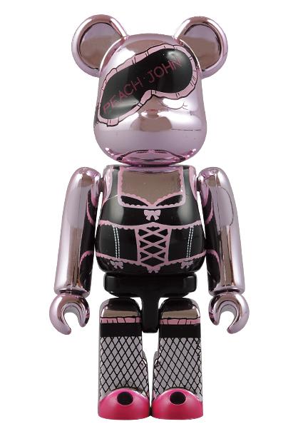 :【新品!!】 PEACH JOHN Pink ver. 100% ベアブリック ピンク ピーチジョン PJ BE@RBRICK メディコムトイ 非売品 フィギュア_画像4