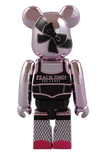 :【新品!!】 PEACH JOHN Pink ver. 100% ベアブリック ピンク ピーチジョン PJ BE@RBRICK メディコムトイ 非売品 フィギュア_画像5