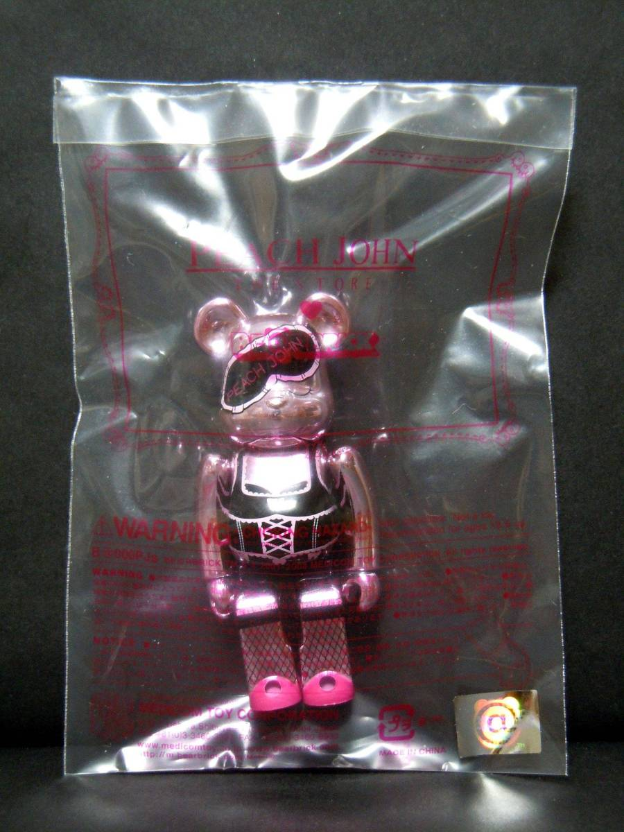 :【新品!!】 PEACH JOHN Pink ver. 100% ベアブリック ピンク ピーチジョン PJ BE@RBRICK メディコムトイ 非売品 フィギュア_画像1