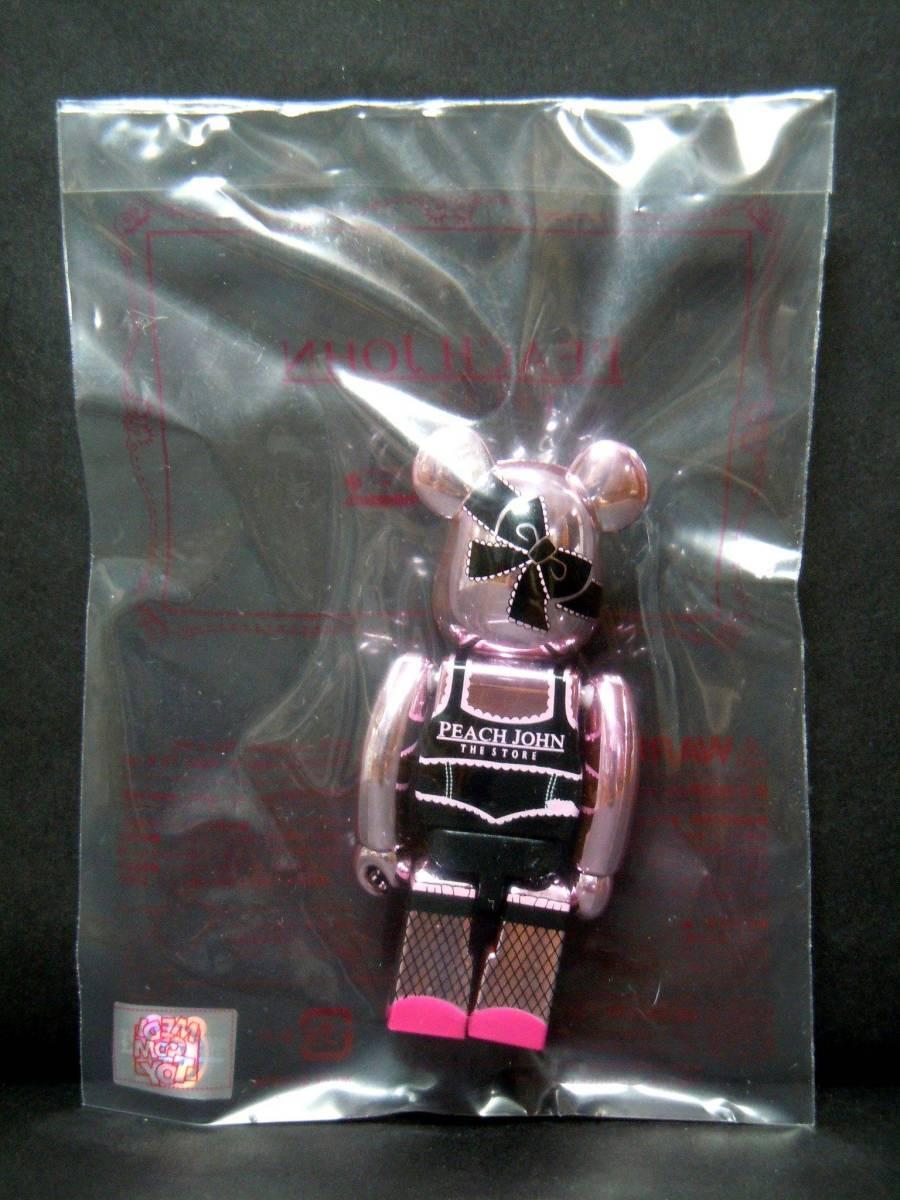 :【新品!!】 PEACH JOHN Pink ver. 100% ベアブリック ピンク ピーチジョン PJ BE@RBRICK メディコムトイ 非売品 フィギュア_画像2