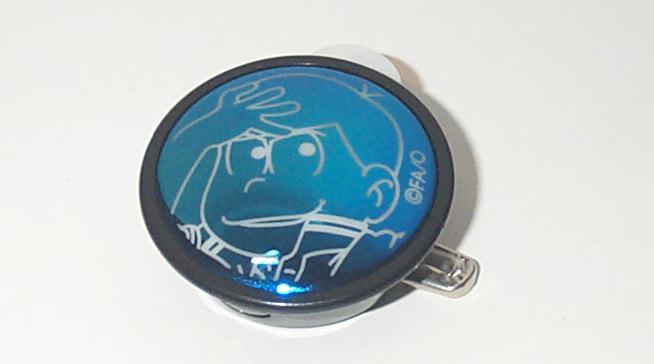 おそ松さん HMV バッジライトコレクション カラ松 ライトバッジ グッズの画像