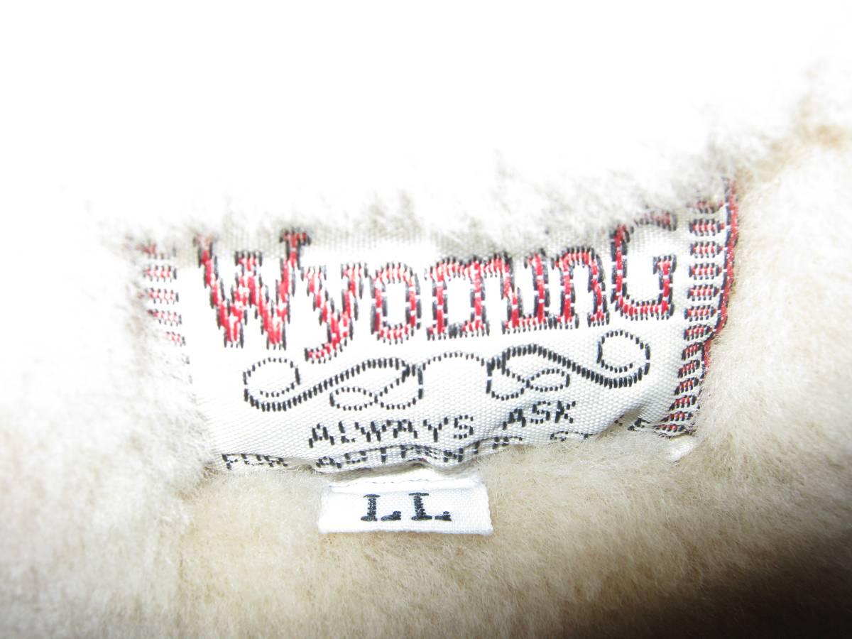 1円!超美品!ビッグ!Wyoming本革B-3レザームートン茶LLフライトジャケット新品購入後1回のみ使用_画像3