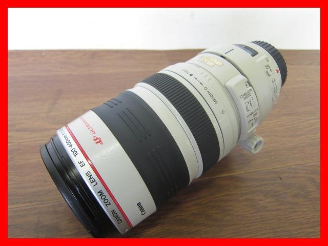 Canon ズームレンズ EF100-400mm 1:4.5-5.6 L IS ULTRASONIC/φ77mm/キャノン/キャップ フード ケース付き/美品#AZ124