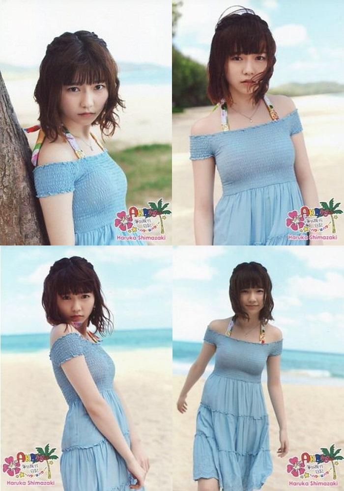 AKB48 島崎遥香 海外旅行日記 ハワイはハワイ DVD特典生写真 4枚セット ライブ・総選挙グッズの画像