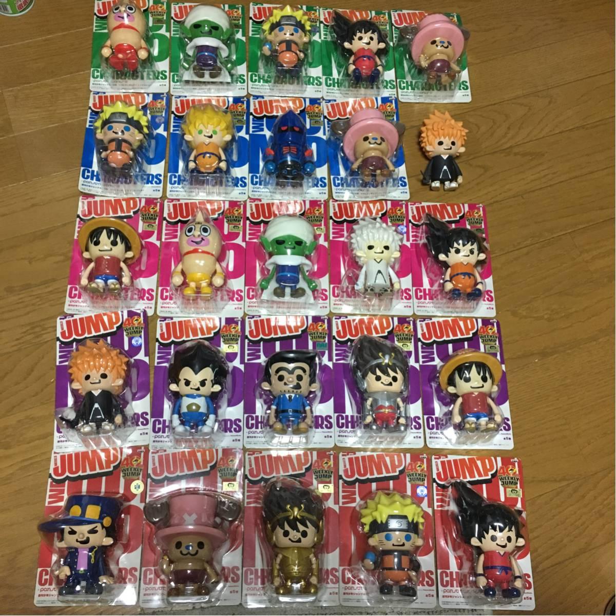 週刊少年ジャンプ40周年 ソフビフィギュア1~5インブリスター 全25種 パンソンワークス BLEACH ドラゴンボール ワンピース_画像1