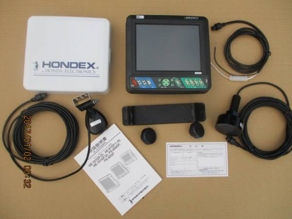 ホンデックスHE81GPⅡーDI 8.4型デジタル式GPSカラー魚探 箱入り新品保