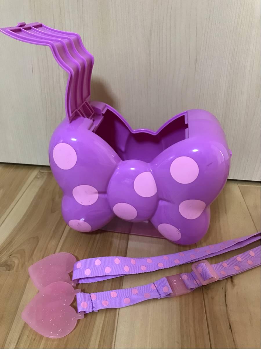 ピンク パープル リボン型 ポップコーンバケット デイジー ミニーちゃん ディズニーリゾート 人気 販売終了品 ディズニーグッズの画像