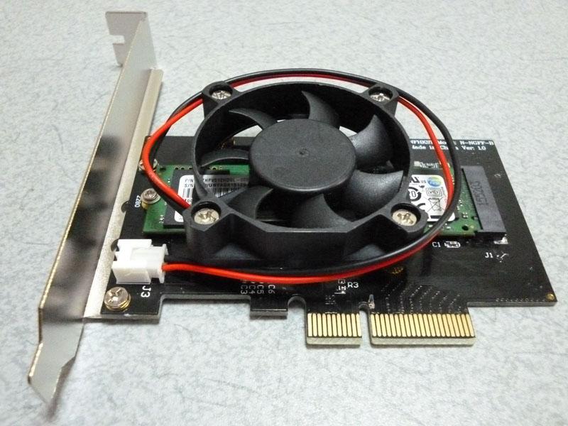 【至上最速】MacPro~2012用 M.2/SSD/512GB(SM951/AHCI) & PCI Express3.0×4変換ボー