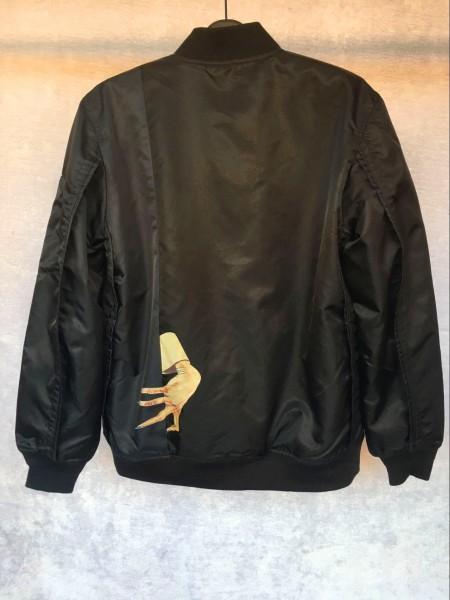 正規・美品 UNDERCOVER アンダーカバー MA-1 フライトジャケット flight jacket PRIMALOFT サイズ4 正規 タグ付き_画像2