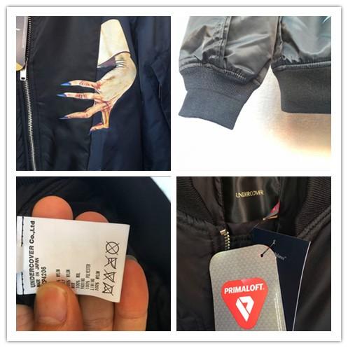 正規・美品 UNDERCOVER アンダーカバー MA-1 フライトジャケット flight jacket PRIMALOFT サイズ4 正規 タグ付き_画像3