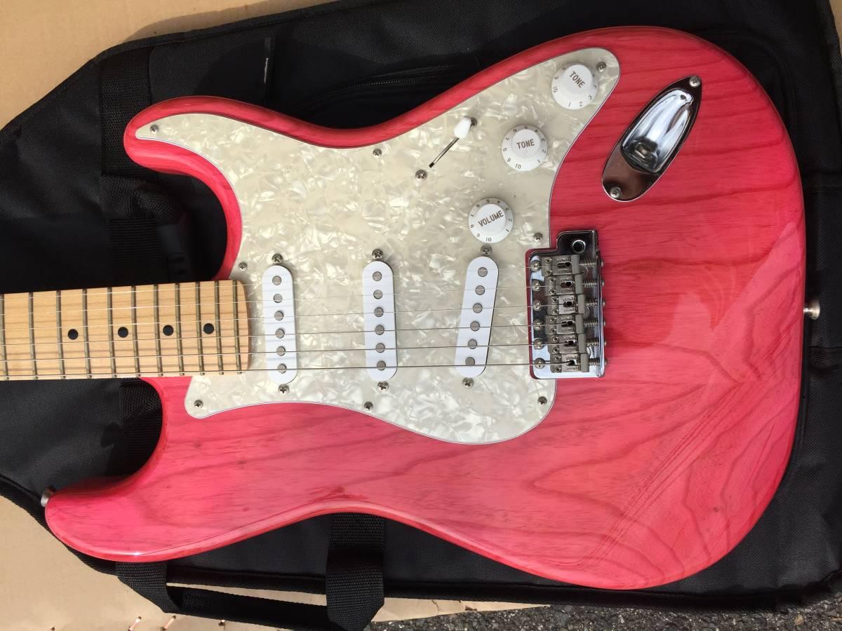 Fender Japan ST57/ASH TRP レアカラー トランスルーセントピンク made in Japan_画像2