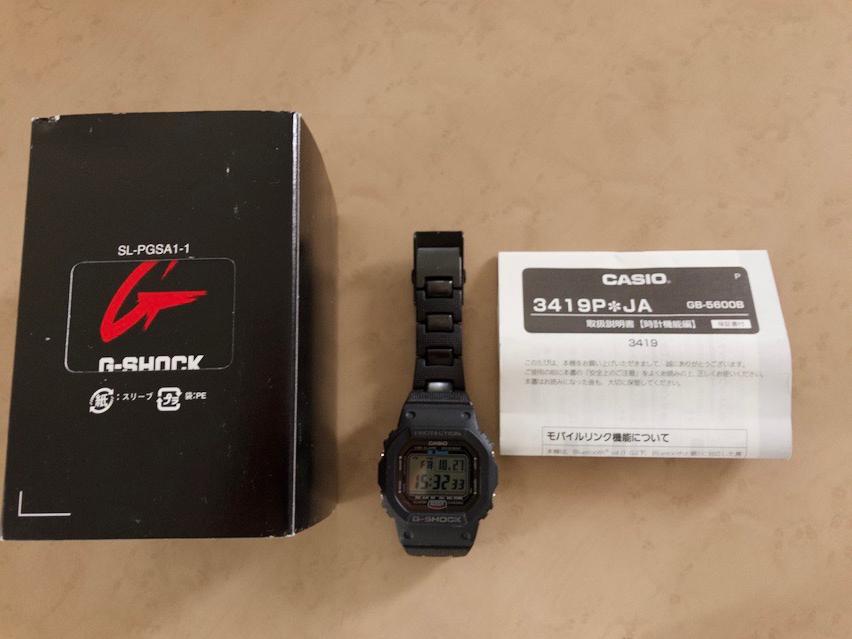 9c026cb09c カシオGショック Gshock GB-5600B(Bluetooth Watch)元箱あり