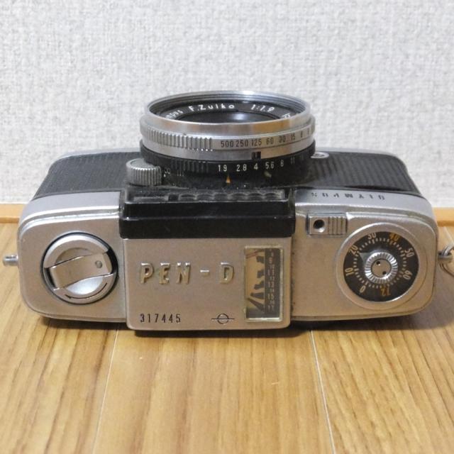 オリンパス フィルムカメラ PEN-D 実写未確認 メーター可動_画像3