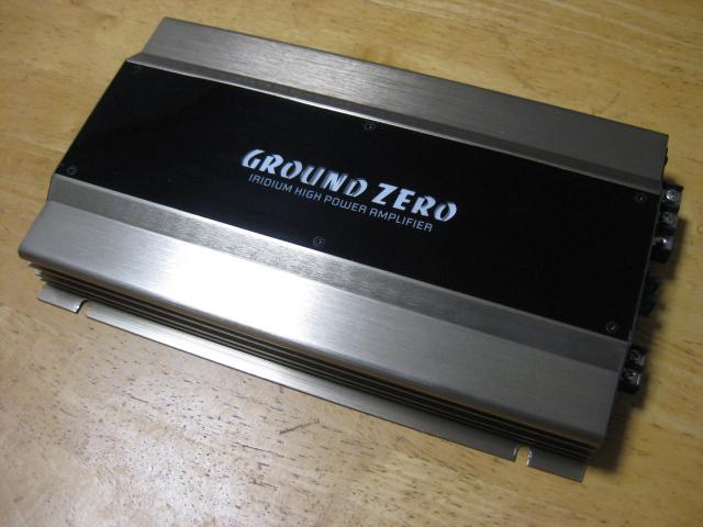 格安っ!グランドゼロ製サブウーハー用パワーアンプGZ-GZIA 1.600HPX☆GROUND ZERO♪
