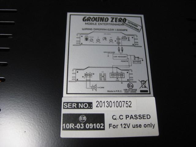 格安っ!グランドゼロ製サブウーハー用パワーアンプGZ-GZIA 1.600HPX☆GROUND ZERO♪_画像3