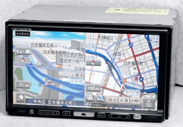 AVIC-HRZ009G 最新2016年地図 フルセグ 取説付属 動作保証 カロッツェリア HDD楽ナビ pioneer carrozzeria_画像2