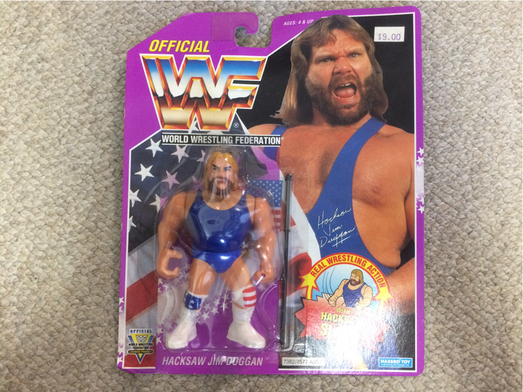 HASBRO社 WWE(WWF)スーパースターフィギュア ハクソー ジム ドゥーガン① グッズの画像