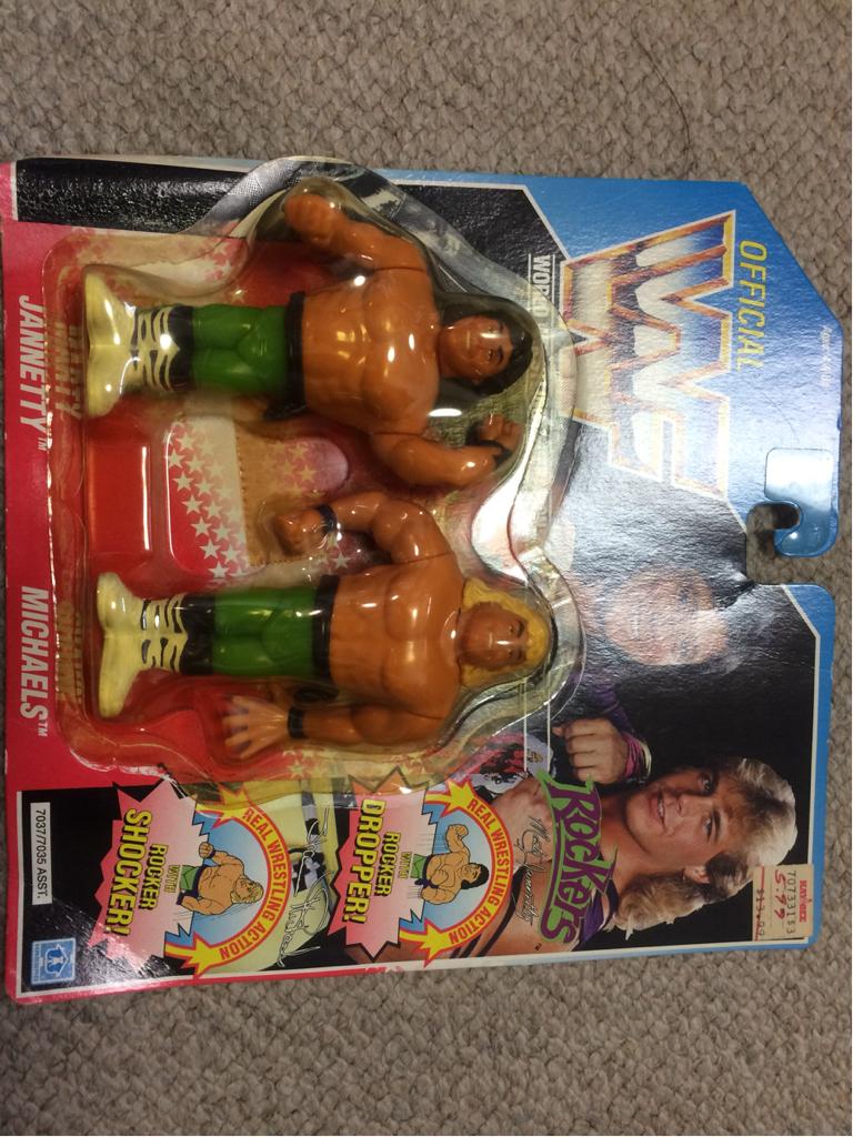 HASBRO社 WWE(WWF)スーパースターフィギュア ロッカーズ ブリスター剥がれ グッズの画像