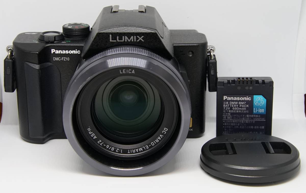 Panasonic LUMIX DMC-FZ10 ブラック 光学ズーム 12倍 明るいレンズ 全域F2.8パナソニック クミックス 美品 動作確認済み 日本製 外国語MENU
