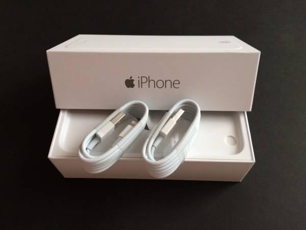 【Apple正規品】純正新品w☆Apple☆ライトニングケーブル2個☆iPhone567☆ USB充電☆箱無し★送料120円