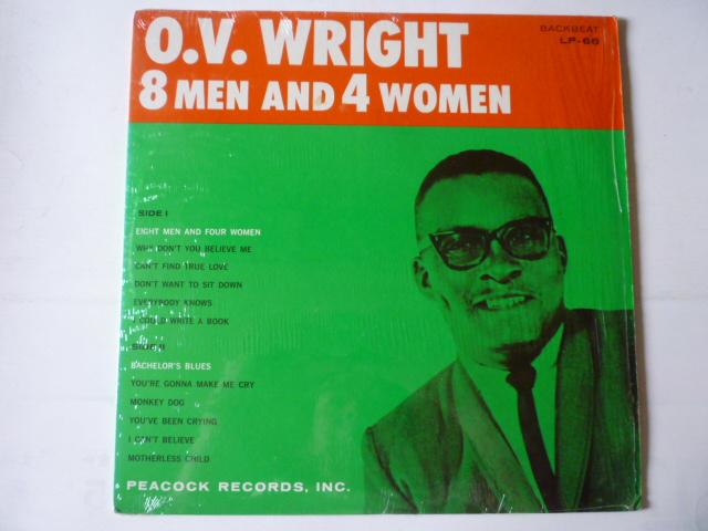 ■USオリジ■O.V. WRIGHT / 8 MEN AND 4 WOMAN BACKBEAT LP-66 MONO シュリンク極上!