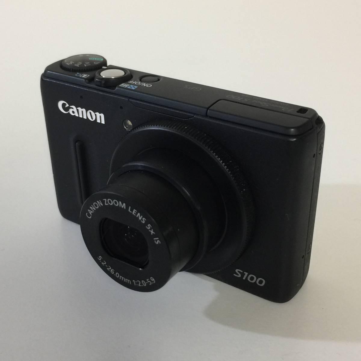 【Canon】 PowerShot パワーショット S100 ブラック 中古 1円スタート!!