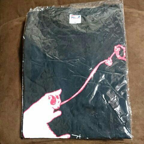 [グッズ] Theピーズ 「2015盤! Tシャツ」 (Mサイズ) / 黒 ブラック 猫 ねこ