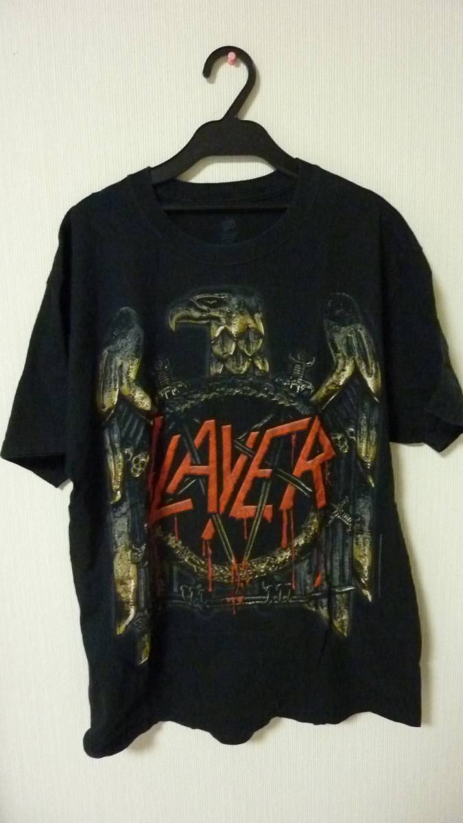 SLAYER(スレイヤー)[2012-2013WORLD PAINTED BLOOD WORLD TOUR]オフィシャルツアーTシャツ/ロックTシャツLOUD PARK