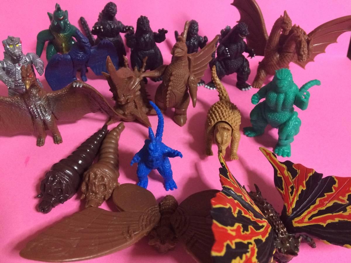バンダイ ゴジラ消しゴム、ソフビ、着色したもの色々 全18体 ダブリあり グッズの画像
